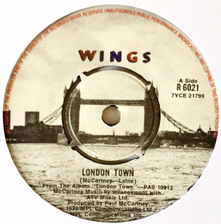 "Wings ‎- London Town (7"") (VG-/NM)"